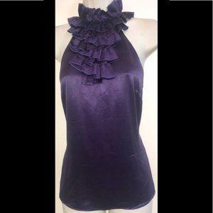 Antonio Melani Silk Purple Ruffled Halter Top 4